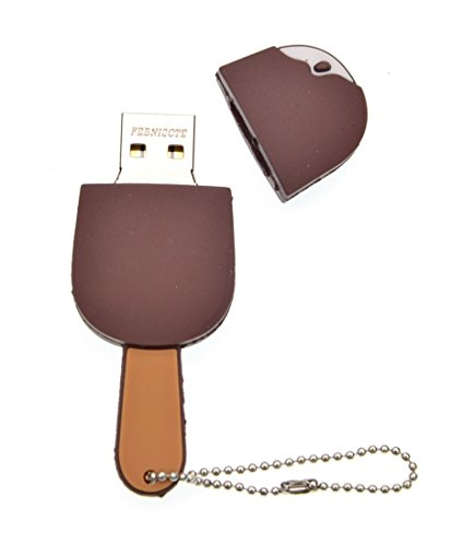 16GB USB Stick Nette Schokoladen Eiscreme SpeicherStick 16 GB Witzig USB 2.0 Flash Laufwerk Memory Stick Cool Pendrive Geschenk für Mutter/Schwester/Mädchen by FEBNISCTE