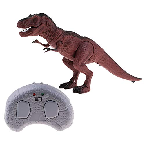 FLAMEER RC Dinosaurio Juguete Electrónico de Control Remoto con Luces y Sonidos para Niños - T-Rex