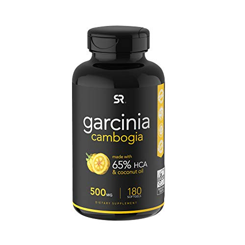 Pure Garcinia Cambogia Infused with Organic Coconut Oil - 180 Liquid Softgels