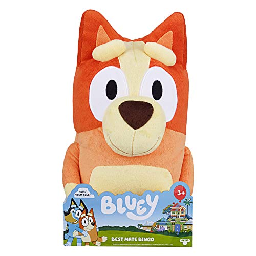 Bluey S2 Jumbo Plush - Bingo, Multicolor, 16 inches (13038)