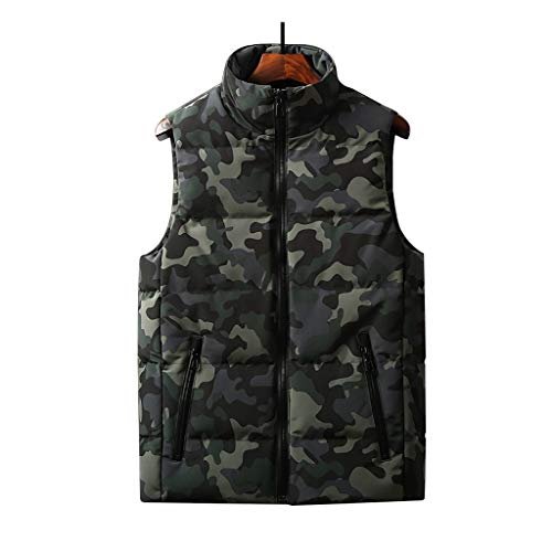 ZRJ Chaleco suave de invierno para hombre, ligero, ultraligero, cálido, grueso, sin mangas, chaleco de invierno (color: multicolor, talla XXXL)