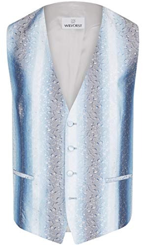 Wilvorst Hochzeitsweste Alan, blau, mit floraler Musterung Größe 94