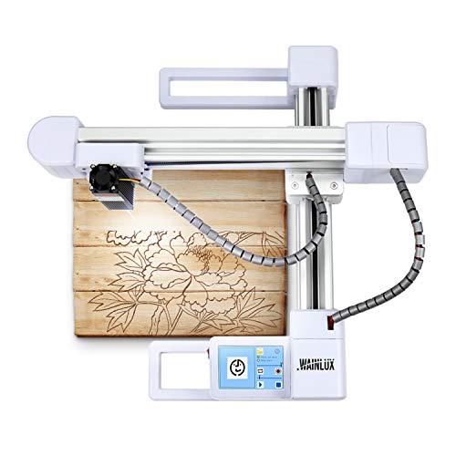 "WAINLUX L1 Laser Engraver, 3000mW Laser Engraving Machine, Support Win, MAC & Mobile WiFi Connection, Laser Marking Machine Etching Range 5.83""×6.85'', Used for DIY Logo or Design — White"