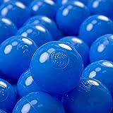 KiddyMoon 300 ∅ 7Cm Kinder Bälle Spielbälle Für Bällebad Baby Einfarbige Plastikbälle Made In EU, Blau