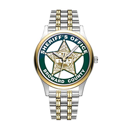 Personalisierte Minimalistische Broward Sheriff es Office Design Watch Goldene Fashion wasserdichte Sportuhr