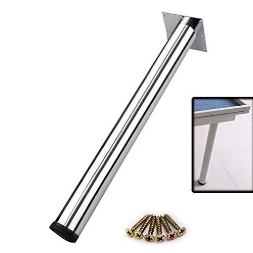 DuDu en hardware 4 Patas muebles del paquete, de la mesa de centro/mesa de comedor, la Capacidad de Carga 500KG, acero, 0-3cm ajustable, Altura 28.5in / 72.5cm, con tornillos