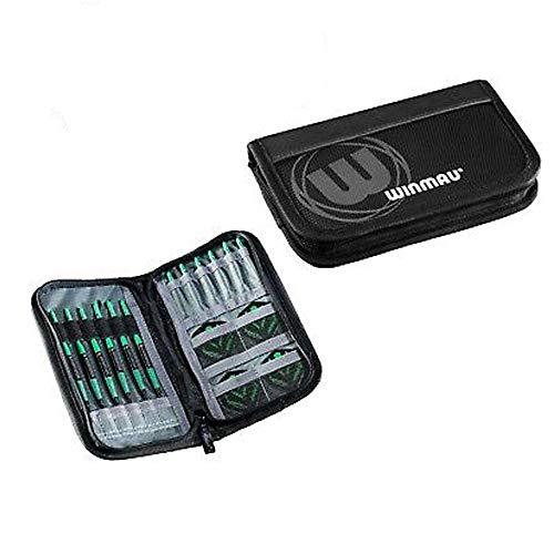 WINMAU Super Dart Case 2, Slimline, für 2 Darts-Sets, 8 Fächer, schwarz