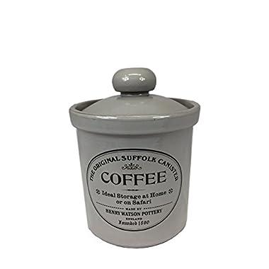 Henry Watson Original Suffolk Medium Coffee Canister Jar with Ceramic Lid in Dove Grey