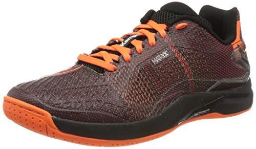 Kempa Attack Pro Contender, Chaussures de Handball Homme, Multicolore (Schwarz/Fluo Orange 05), 43 EU