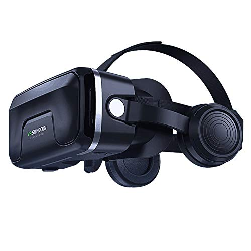 zhangfengjiao Head-mounted Vr Bril, VR Virtual Reality 3d Bril Compatibel met IPhone en Android telefoons, Game Helm Multifunctionele Machine
