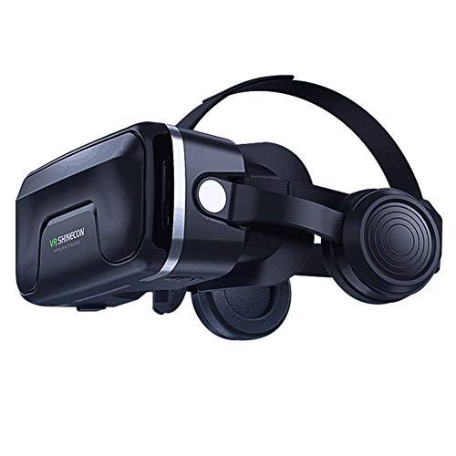 zhangfengjiao Head-mounted Vr Bril, VR Virtual Reality 3d Bril Compatibel met IPhone en Android telefoons, Game Helm Multifunctionele Machine