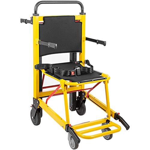VEVOR Kletterrollstuhl Aluminiumlegierung Treppenlift Menschen Angetrieben Kletterrollstuhl Belastbarkeit(Gelb)