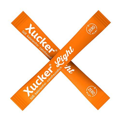 Ca. 1000 Xucker Light Sticks mit je 5 g in einem Karton | zum Vorteilspreis | Genießen ohne Zucker | Die Süßkraft entspricht etwa 70 % der von Zucker