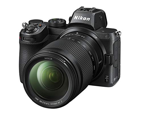 Nikon Z 5 Spiegellose Vollformat-Kamera mit Nikon 24-200mm 1:4,0-6,3 VR (24,3 MP, Hybrid-AF mit 273 Messfeldern, eingebauter 5-Achsen-Bildstabilisator, 4K UHD Video, doppeltes Speicherkartenfach)