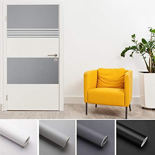 KINLO Möbelfolie Verdickung Folie PVC 5x0.61M Hellgrau selbstklebend Möbel verschönen Anti Schimmel ohne Glanz Dekofolie Stickerfolie für Schrank