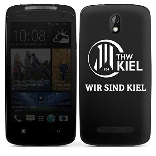 Folie kompatibel mit HTC Desire 500 Aufkleber Skin aus Vinyl-Folie Handball THW Kiel Fanartikel