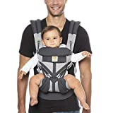 Ergobaby Omni 360 All-Position Baby Carrier for Newborn to Toddler with Lumbar Support and Cool Air Mesh (7-45 Pounds), Carbon Grey