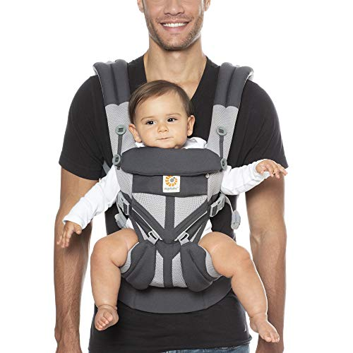 Ergobaby Omni 360 Baby Carrier Cool Air Mesh Carbon Grey Multicolor
