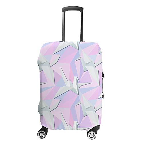 Funda para maleta CHEHONG Origami Birds color blanco con ruedas de viaje, funda protectora lavable de fibra de poliéster elástica a prueba de polvo