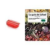 Lékué Estuche de vapor con bandeja, 3-4 personas, Capacidad: 1400 ml, color rojo + Recipiente para cocinar Quinoa, Arroces y Cereales, 1 Litro
