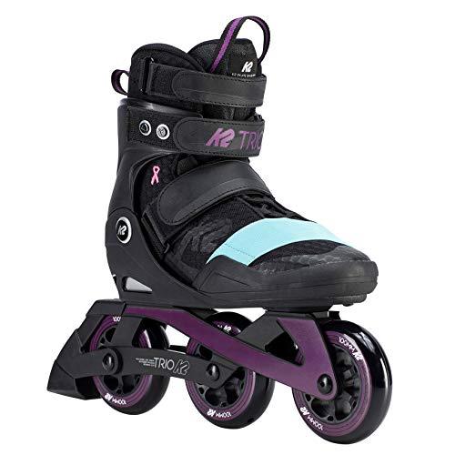 K2 Damen Inline Skates TRIO 100 W - Schwarz-Lila-Türkis - EU: 39 (US: 8 - UK: 5.5) - 30D0160.1.1.080