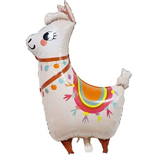 DIWULI, XXL Alpaka Lama Luftballon, Folien-Luftballon, Geburtstagsballon, lustiger Pinata Folien-Ballon für Geburtstag, Junge Mädchen Kindergeburtstag, Motto-Party, Dekoration, Geschenk-Deko, DIY