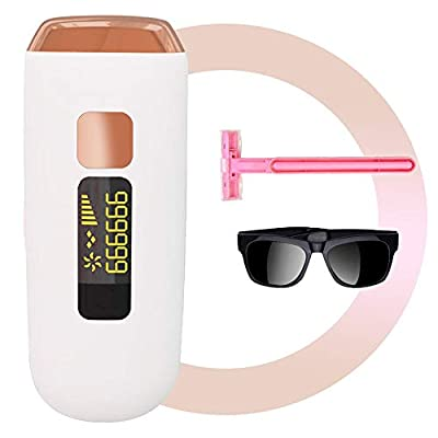 IPL Hair Remover for Women & Men, Permanent Laser Hair Removal Device,ICE Compress Painless, 999999 Flashes,Suitable for Face, Armpits, Arms, Chest, Back, Bikini and Legs