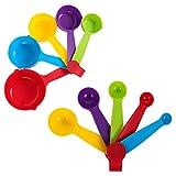 metagio Cuchara medidora de plástico, taza medidora y cuchara, de plástico, multifunción, para cocina, hornear, apto para lavavajillas (5 tazas medidoras + 5 cucharas)