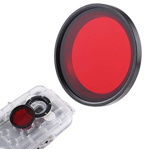 Linghuang 32 mm Filtro de Lente de Buceo para Teléfono Celular Estuche de Buceo Filtro de Buceo Rojo para iPhone 8/8 Plus/iPhone 7/7 Plus/Samsung Galaxy S9 / Huawei P20