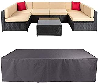 Agility Patio Sofa Cover Outdoor Sectional Furniture Cover Waterproof Garden Couch Cover Dust Proof Protective Loveseat Co...