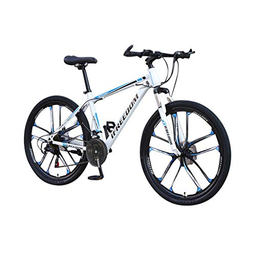 Honestyivan Mountain Bikes for Asults, 26 Inch 21 Speed Variable Speed Carbon Steel Full Suspension Mountain Trail Bikes with Dual Disc Brakes, Road Bicycle for Urban Commuter Office Worker Students