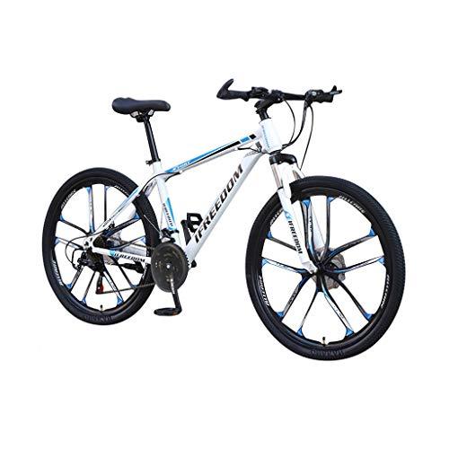 TIZUPI 26 Zoll 21-Gang Mountainbike Fahrrad Erwachsene Student im Freien (Blau, 26 Zoll)