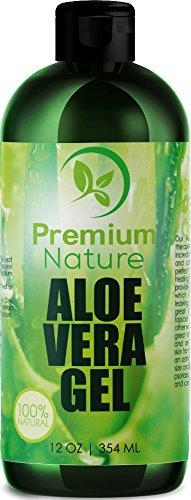 Aloe Vera Gel Pure Juice - For Face & Dry Skin Psoriasis Eczema Treatment Cold Sore Scar After Bug Bite Redness Relief Rash Razor Bump Sunburn DIY Body Lotion Skincare Moisturizer 100% Pure