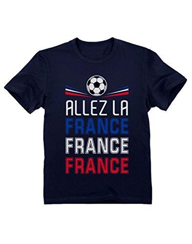 Green Turtle T-Shirts Camiseta para niños - Apoya la Selección de Francia en el Mundial de Rusia 2018! 3/4 Años 104cm Azul Oscuro