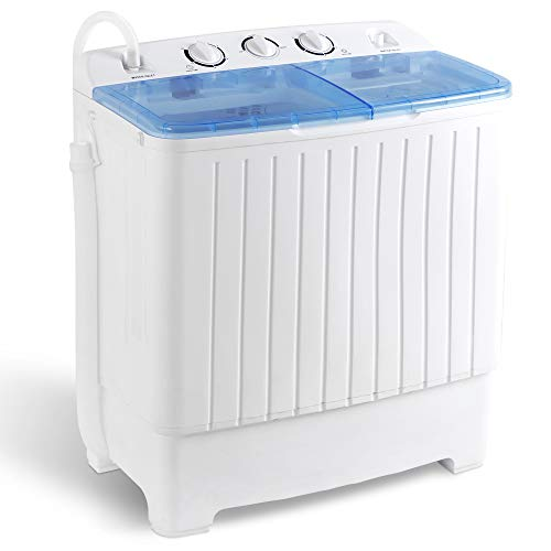 SUPER DEAL 2IN1 Mini Compact Twin Tub Washing Machine 17.6lbs Washer + Spinner Combo, with Timer...
