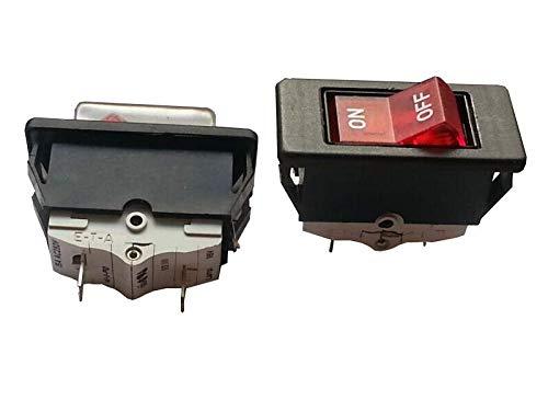 1 interruptor basculante alemán E-T-A 41-11-P10 de alta corriente de 2 pies, 2 archivos apagados 250V15A.