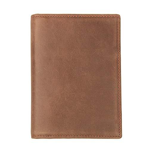 Bolsa de Pasaporte de Viaje Cuero documento documento Pasaporte Pasaporte documento boleto boleto Clip RFID Funda Protectora 14.5cm (W) x 10cm (W) C