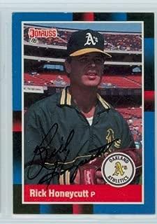 Rick Honeycutt AUTOGRAPH 1988 Donruss Oakland Athletics