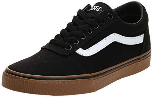 Vans Herren Ward Canvas Sneaker, Schwarz Suede Canvas Black White Car, 43 EU