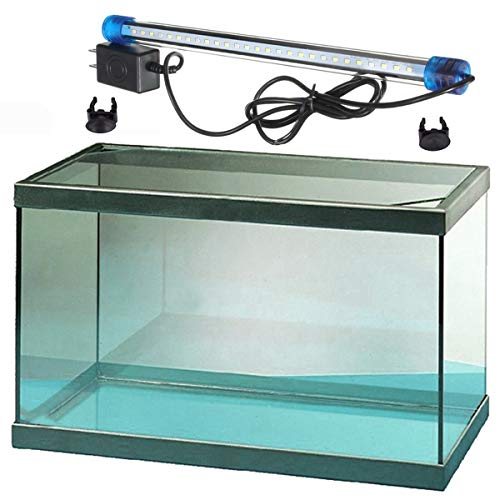 Acuario Cristal Pecera Cristal con Tubo LED (5,5-54 litros) (35 litros)
