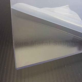 "Cast Acrylic Plastic Sheet 1/4"" x 23"" x 23"" - Clear Plexiglass"