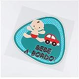 WYZDGTD Sticker de Carro by Cars On The Blue Baby Boat Color Interesante Etiqueta engomada del Coche Calcomanía de Vinilo 2 Piezas 15.5x15.6 cm