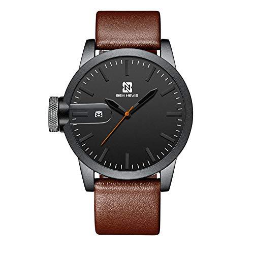 Relojes De Pulsera Reloj De Cuarzo De Tendencia De Moda Reloj De Calendario Simple, Cinturón
