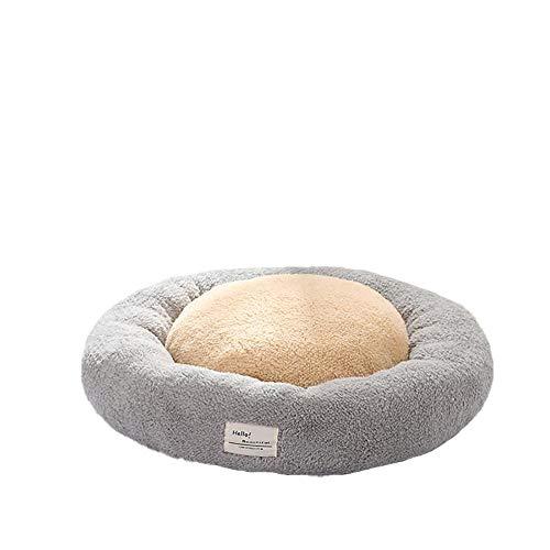 Monbedos snoepkleur hond katten huisdierbed wasbaar hondenbed met rand hondensofa hondenmand hondenbed - grijs