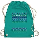 Aprs Ski - Apres Ski Sweater - Unisize - Trkis - WM110_Stoffbeutel - WM110 - Turnbeutel und Stoffbeutel aus Bio-Baumwolle