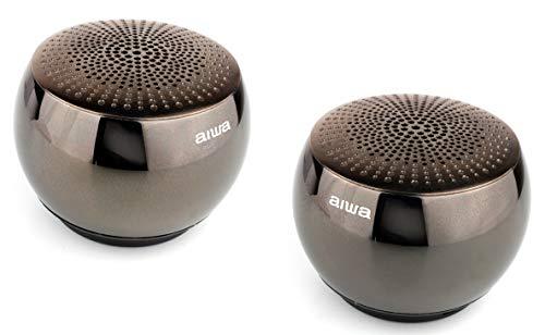 Aiwa Orb - Altavoces inalámbricos Bluetooth con tecnología TWS y EDR -...