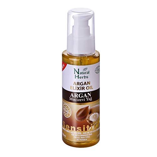 Arganöl für Haare 100 ml - verleiht Ihrem Haar Feuchtigkeit & Glanz - Ideal für trockenes und strapaziertes Haar- Anti Frizz - Haaröl ohne Silikon und Parabene