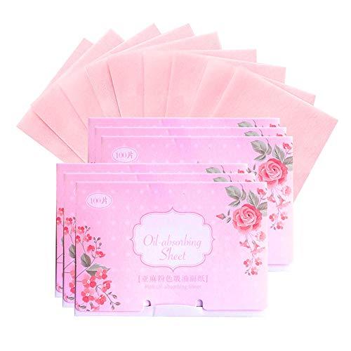 600 feuilles de papier absorbant à l'huile de lin absorbant l'huile de papier absorbant pour le visage Film de contrôle de l'huile naturelle