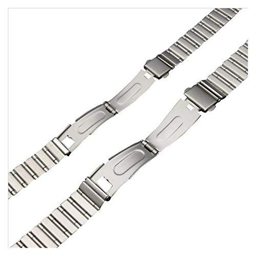 WNFYES 12mm 18mm Banda de Acero Inoxidable Reloj de la Correa de la Pulsera de la Venda de la Mariposa broches de Oro Hebilla de la Plata for los Hombres de Las Mujeres Relojes Correas