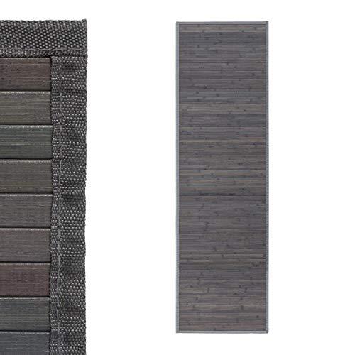 D,casa - Alfombra pasillera Industrial Gris de bambú de 60 x 200 cm Factory